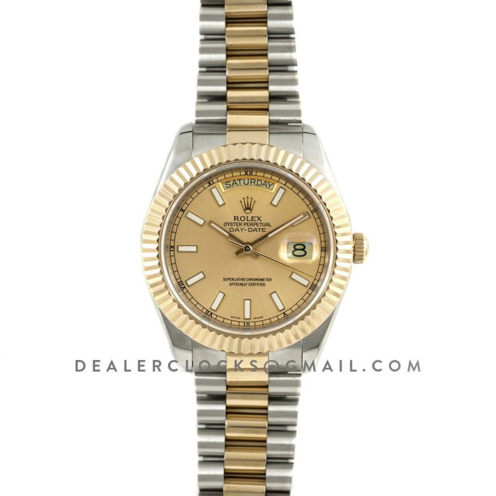Day,Date II 116333 Champagne Gold Dial Two,Tone