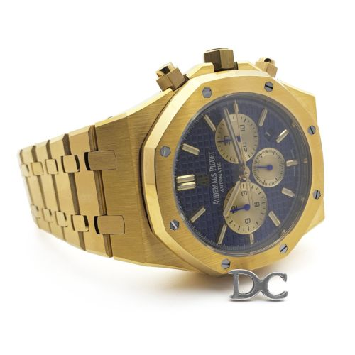 Royal Oak Self-Winding Chronograph Blue/Gold Dial in Yellow Gold