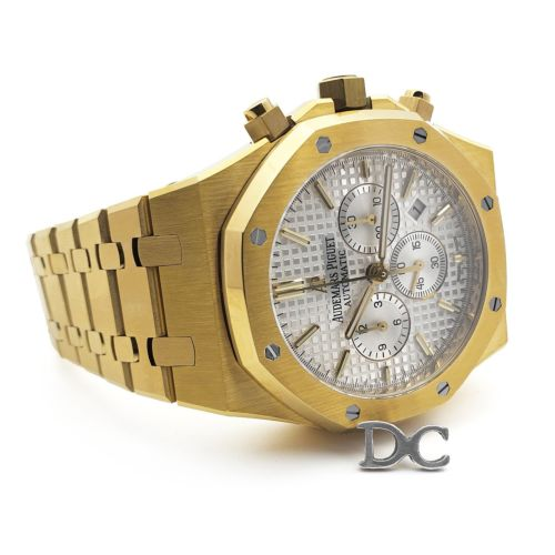 Royal Oak Self-Winding Chronograph White Dial in Yellow Gold
