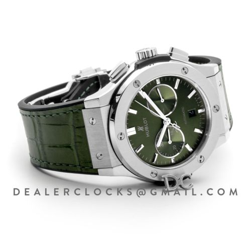 Classic Fusion Chronograph Green Dial in Steel