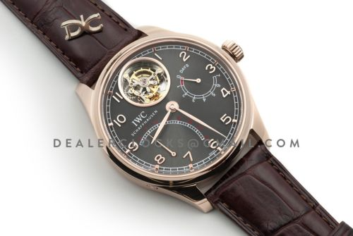 Portugieser Tourbillon Mystere Retrograde IW504602 Grey Dial in Rose Gold