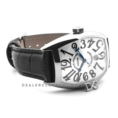 Casablanca Automatique 8880 B SC DT White Dial on Black Strap