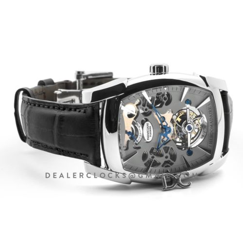 Kalpa Grande Tourbillon Grey Dial in Steel on Black Leather Strap