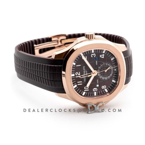 Aquanaut Time Travel 5164A Brown dial in Rose Gold