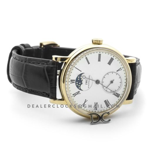 Vintage Portofino Hand Wound IW544806 White Dial in Yellow Gold