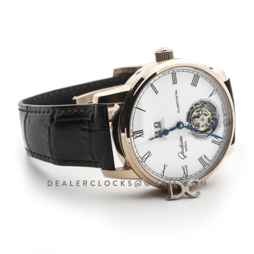 Senator Meissen Tourbillon Alfred Helwig Edition Ref 1-94-03-05-04-30 White Dial in Rose Gold