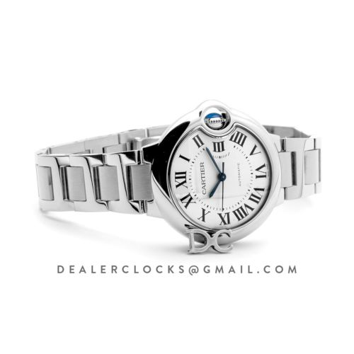 Ballon Bleu De Cartier 36mm White Dial in Steel