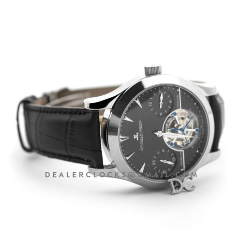 Master Grande Tradition Tourbillon Cylindrique a Quantieme Perpetuel Black Dial in White Gold
