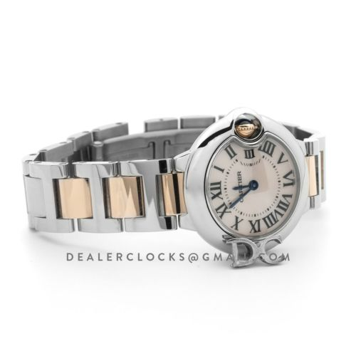 Ballon Bleu de Cartier 28mm Mother of Pearl Dial in Steel and Gold