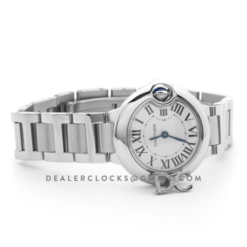 Ballon Bleu de Cartier 28mm White Dial in Steel