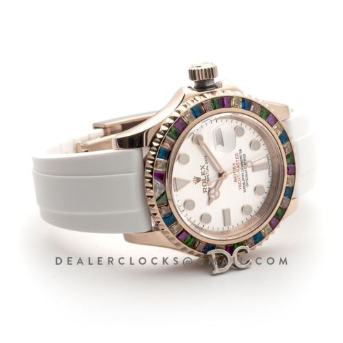 Yacht-Master Baymax Silver Dial with Gem-Set Bezel