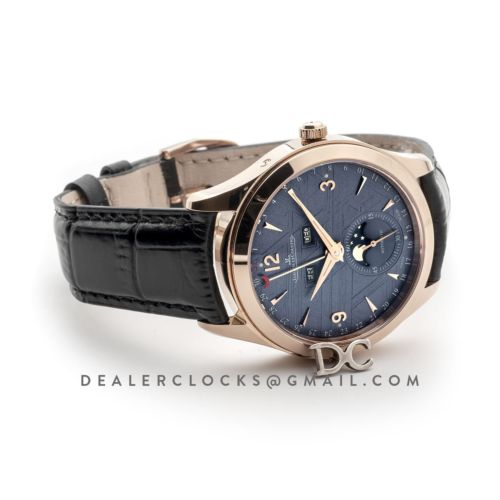 Master Calendar Navy Blue Dial in Pink Gold