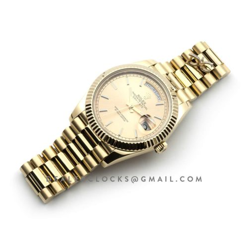 Day-Date 40 228238 Champagne Dial in Yellow Gold