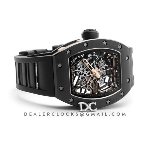 RM 035-02 Black Toro Americas with Black Rubber Strap