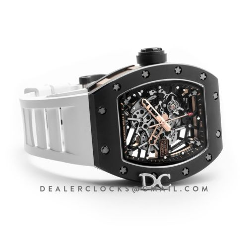 RM 035-02 Black Toro Americas with White Rubber Strap