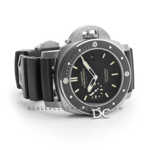 PAM389 Luminor Submersible 1950 Amagnetic 3 Days Automatic Titanio