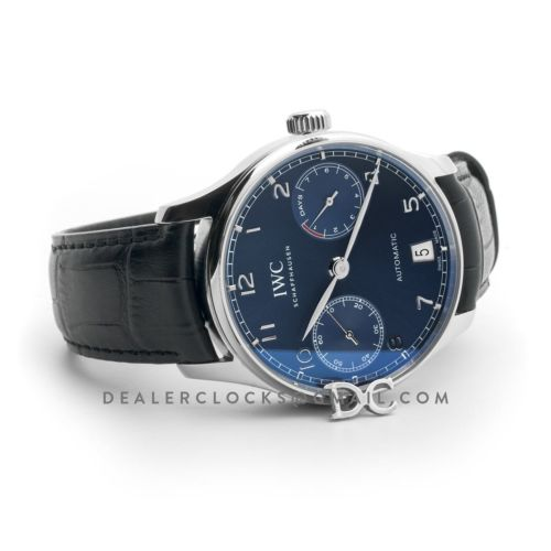 Portugieser Automatic IW500710 Blue Dial in Steel