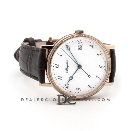 Breguet Classique 5178 in Rose Gold on Brown Leather Strap