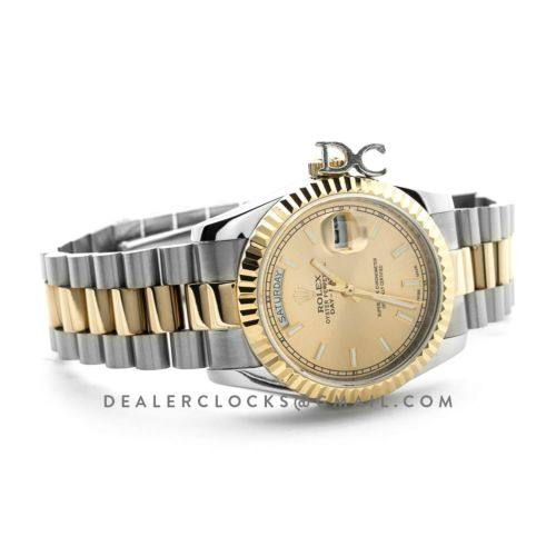 Day-Date 40 Two Tone 228238 Champagne Dial