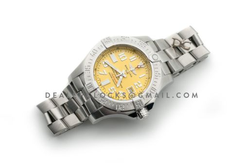 Avenger II Seawolf Yellow Dial in Steel on Bracelet