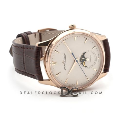 Master Ultra Thin Moonface 39mm Beige Dial on Brown Leather Strap