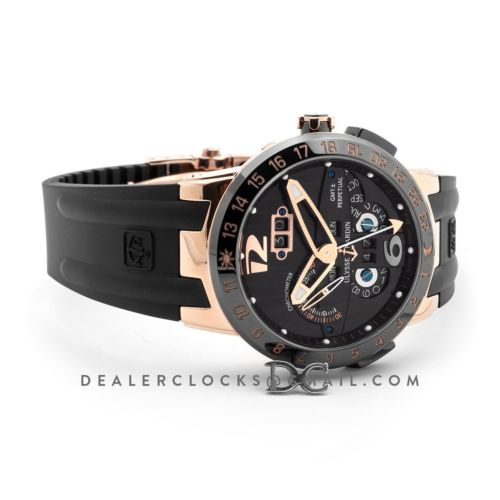 Ulysse Nardin El Toro Black Dial in Rose Gold