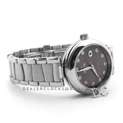 Ladymatic Co-Axial 34mm Purple MOP Dial in Steel