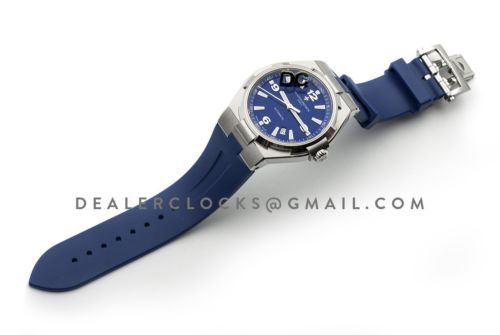 Overseas Automatic Blue Dial in Steel