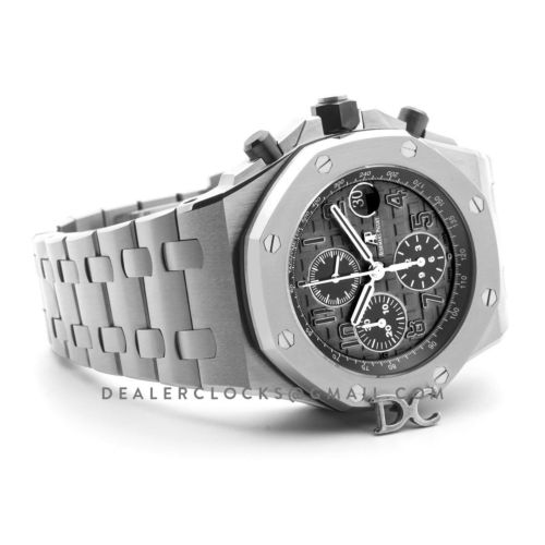 Royal Oak Offshore Grey Themes 2014 on Steel Bracelet