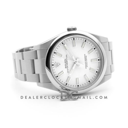 Oyster Perpetual 39mm White Dial 114301