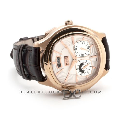 Black Tie Emperador White Dial in Rose Gold