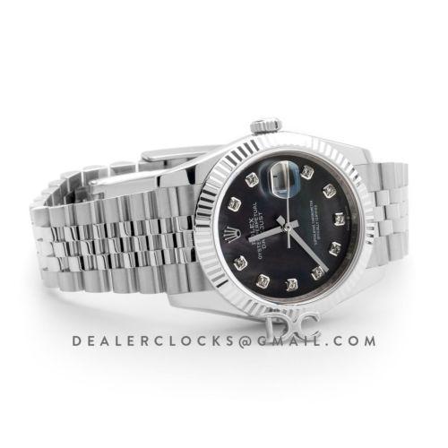 Datejust 36 116234 Black MOP Dial with Diamond Markers