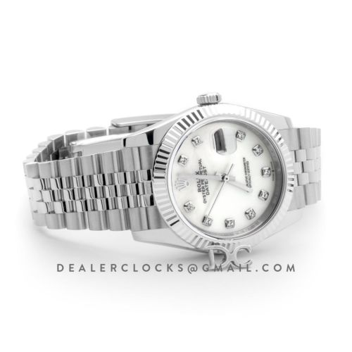 Datejust 36 116234 White MOP Dial with Diamond Markers