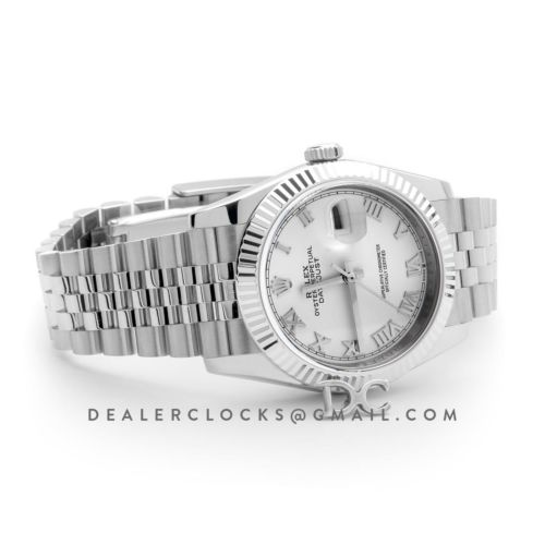 Datejust 36 116234 White Dial with Roman Numeral Markers