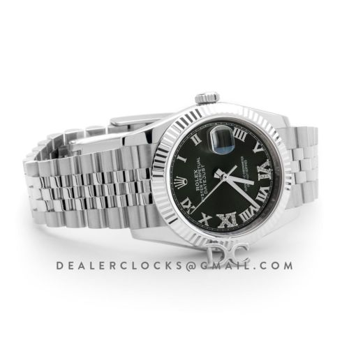 Datejust 36 Olive Green Dial with Roman/Diamond Markers
