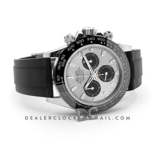 Daytona 116519LN Silver Dial in White Gold on Oysterflex Strap