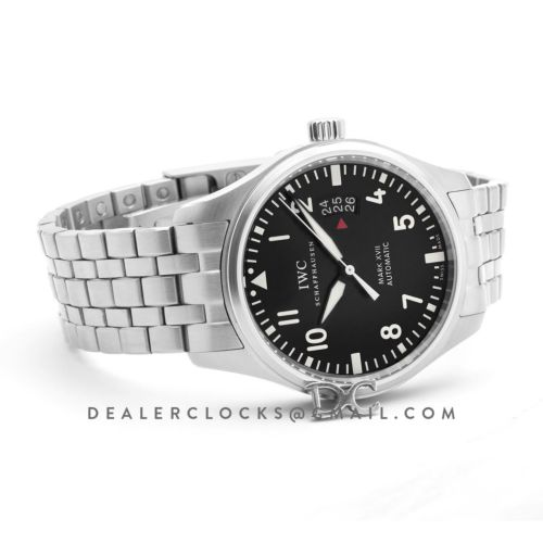 Mark XVII Black Dial on Steel Bracelet IW326504