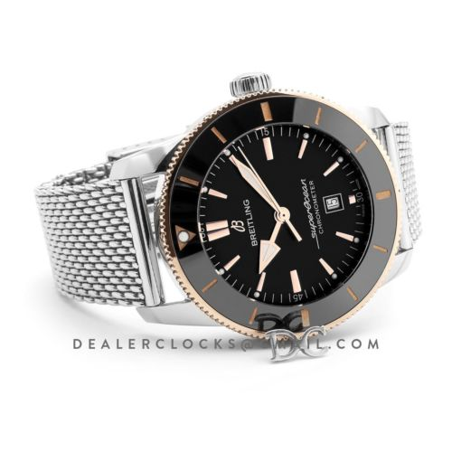 Superocean Heritage II B20 Automatic 44mm in Black Dial on Black and Rose Gold Bezel