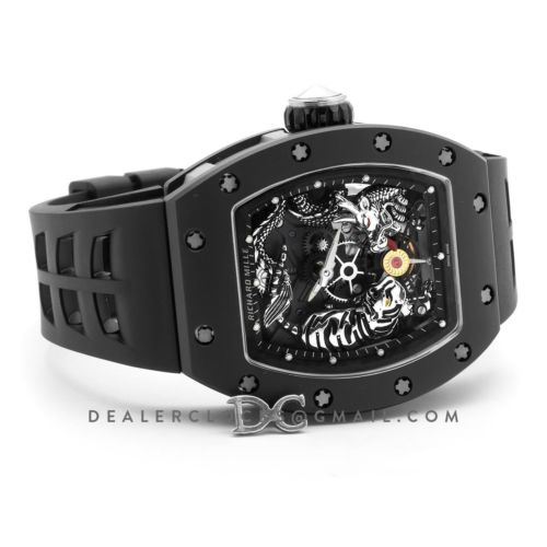 RM 051-01 Tourbillion Tiger and Dragon Black Ceramic