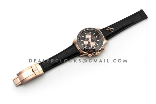 Daytona 116515 Black Dial in Rose Gold