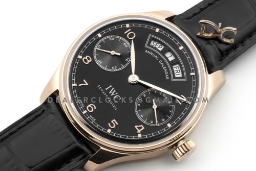 Portugieser Annual Calendar IW5035 Black Dial in Rose Gold
