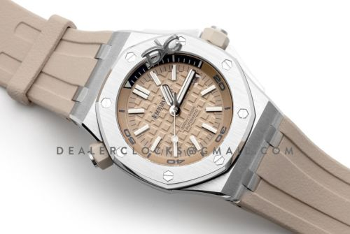 Royal Oak Offshore Diver Steel Beige Dial 15710ST