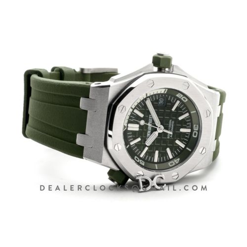 Royal Oak Offshore Diver Steel Khaki Dial 15710ST