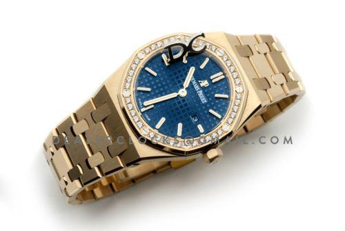 Lady Royal Oak 67651BA Gold Blue Dial