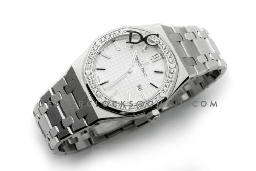 Lady Royal Oak 67651ST Steel White Dial