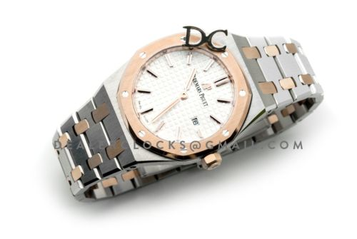 Lady Royal Oak 67650SR Steel/Rose Gold White Dial