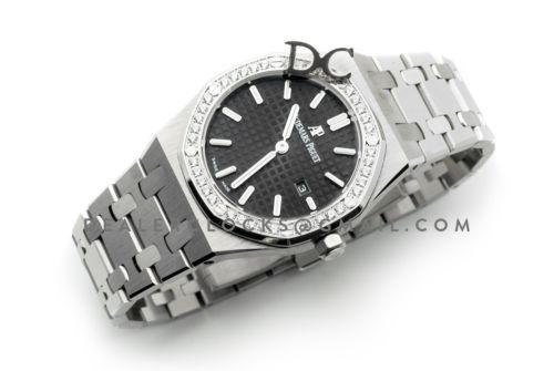 Lady Royal Oak 67651ST Steel Black Dial