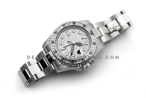 GMT Master II 116710 with Paved Diamond Bezel and Dial
