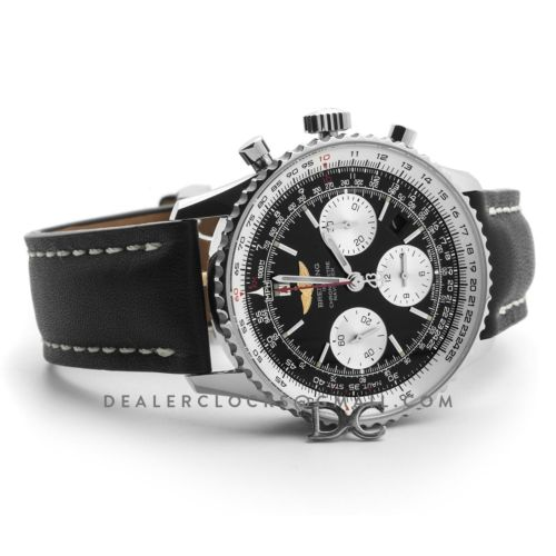 Navitimer 01 Chronograph Black Dial in Steel