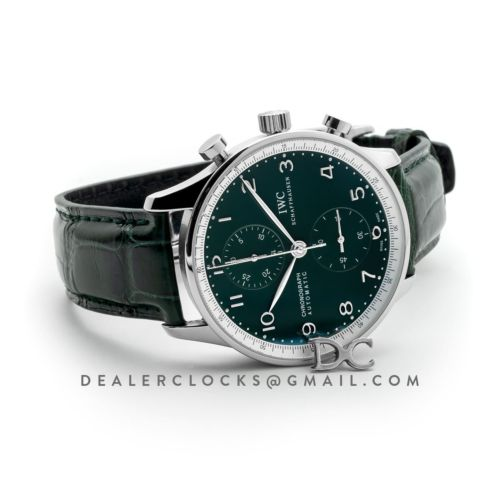 Portugieser Chronograph Edition 150 Years IW3716 Green Dial in Steel